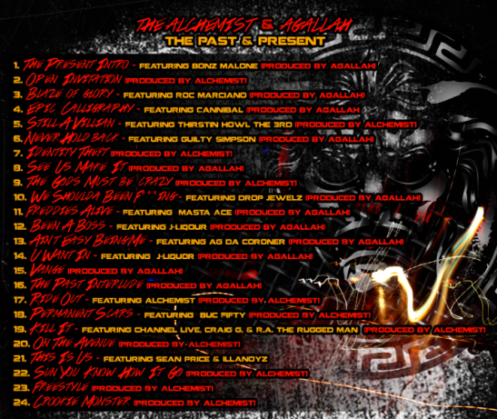 Alchemist x Agallah Tracklisting